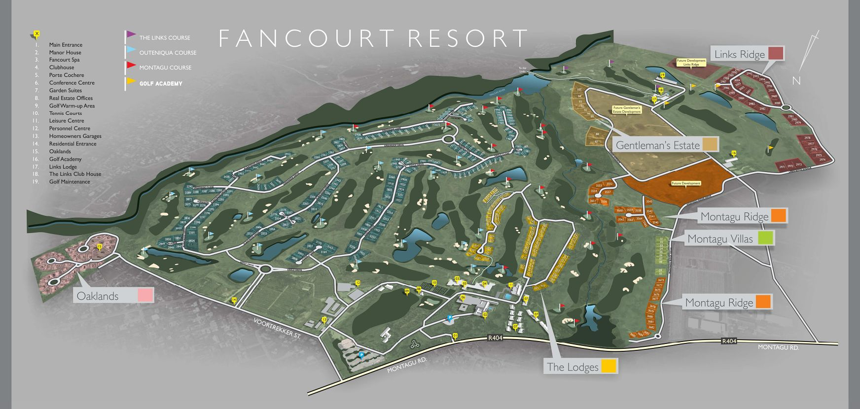 Fancourt site map
